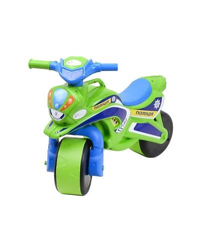 """Мотобайк """"Полиция"""" музык. (зелёно-синий), арт. 0139/52, Фламинго (Долони)"""
