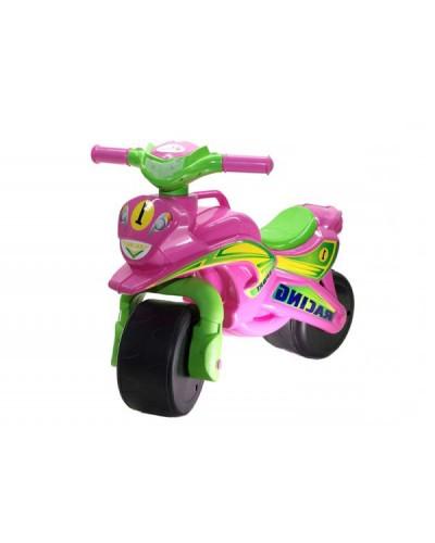 "Мотобайк ""Спорт"" музык. (розово-зелёный), арт. 0139/3, Фламинго (Долони)"