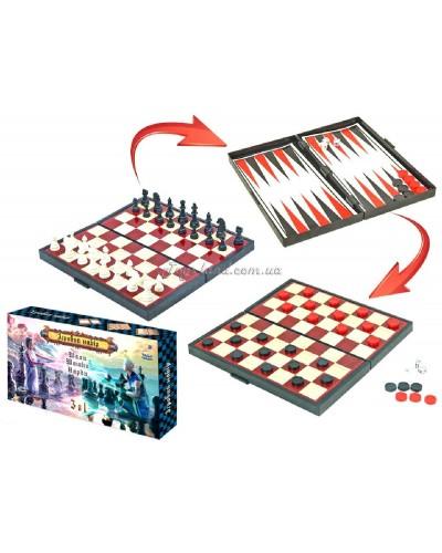 "Шахматы магнитные ""3в1"", шашки, нарды, арт. 1114"