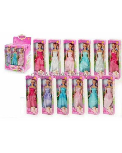 """Кукла """"Defa Lucy"""" 8074 (96шт/2) 12 видов, в бальном платье, в дисплей боксе 28*19*33см"""