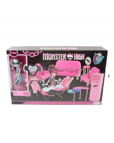 """Кукла """"Monster High"""" 66529  на шарнирах, с мебелью, в кор. 55*33*11см"""