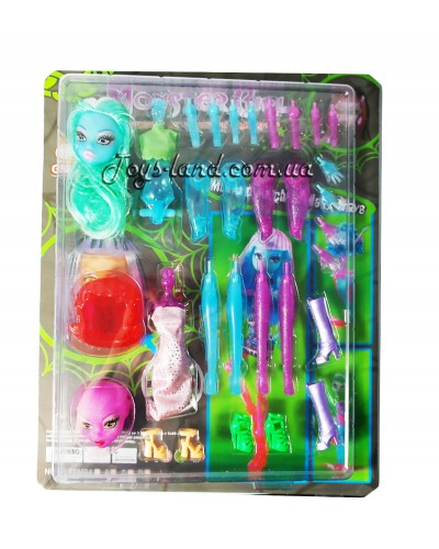 """Кукла """"Monster High"""" OLT2870A-2 2 шт, сборная, на планш. 35*28*5см"""