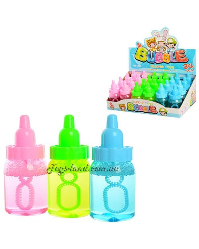 Мыльные пузыри соски,3 цвета,в боксе 24шт