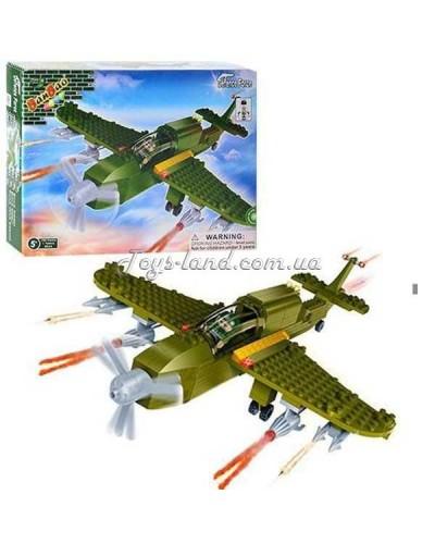 Конструктор BANBAO 8244  военный самолет, 190 дет, фигурка, в кор-ке, 30-22,5-5см
