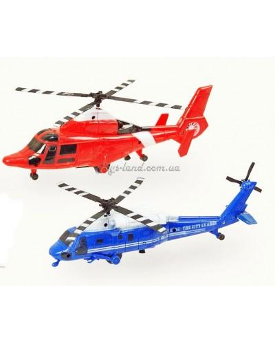 Вертолет инерц. 898-1/666-1  2 вида, в пакете 28*5*13см