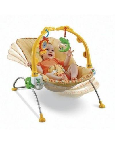 """Детский шезлонг Fisher-Price 1760 """"Тропический лес""""0-11кг,2иг.вибрац.8мелод"""