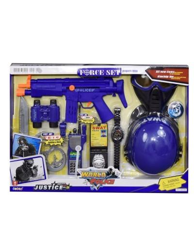 Полицейский набор 34330 с каской и маской муз.свет.кор.59*6*40