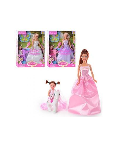 Кукла DEFA 29см 8077 с ребенком,пони 3в.кор.32,5*6*24