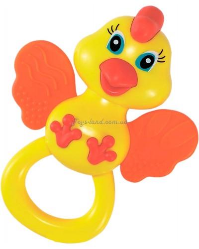 Погремушка-прорезыватель Цыпленок 3М+