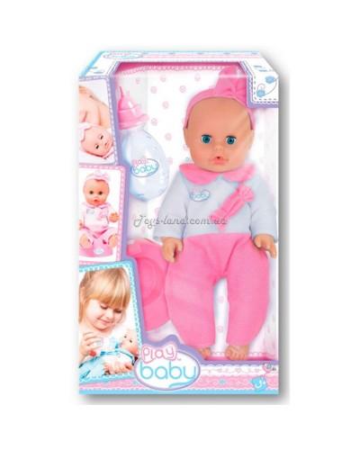 Моя первая кукла; 32см; розовая одежда; 3+