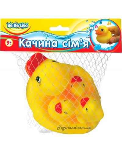 Пищалки для ванной Утиная семья 9М+