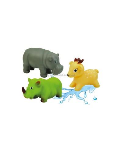 Животные-пищалки для ванной Африка 3 шт. 12М+