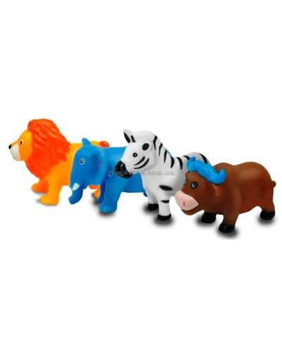 Животные-пищалки для ванной Зоопарк 4 шт. 12М+