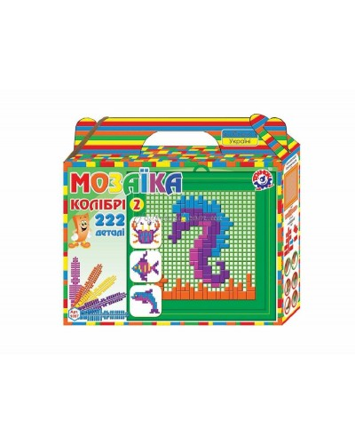 "Мозаика ""Колибри 2"" (222 дет.), арт. 1097, ТехноК"