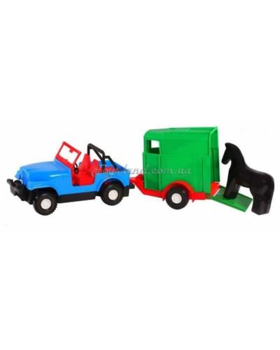 """Машина """"Авто-джип с прицепом"""", арт. 39007, Тигрес"""