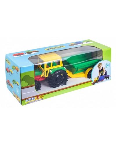 Трактор з причепом в коробці