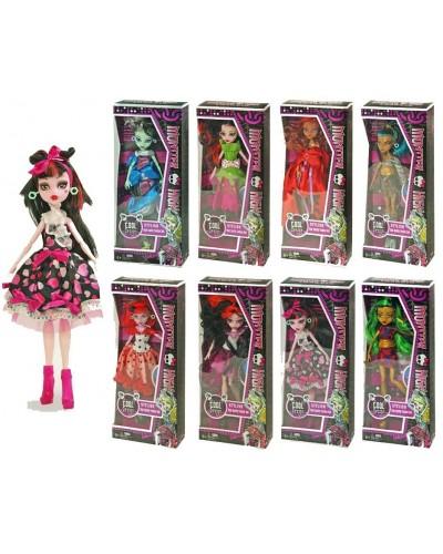 "Кукла ""Monster High"" 2074 8 видов, шарнир, в кор.14*6*33см"