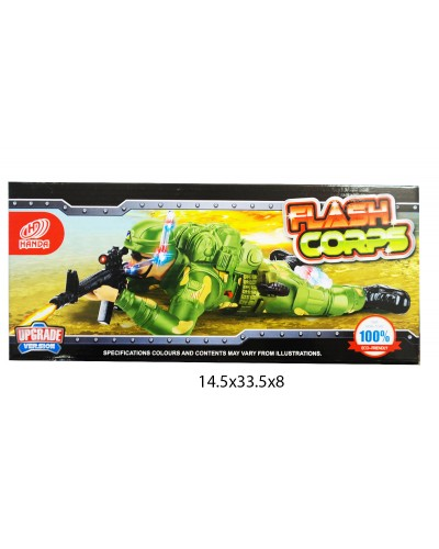 Ползающий солдат батар. HD915 в коробке 14,5*33,5*8см