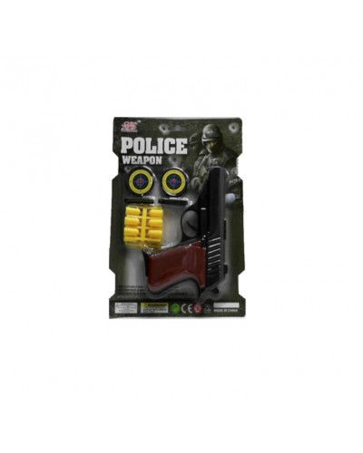 Полицейский набор 3040A мишень, пистолет, снаряды, на планшетке