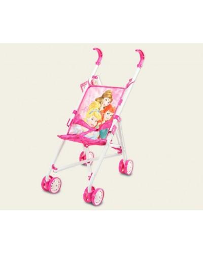 """Коляска """"Disney - Princess"""" D1001P метал.летняя,8 колес,крутящиеся,20*27*54см,в пак.19*75см"""