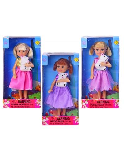 "Кукла ""Defa Lucy"" 8280ABC (1434305) с питомцем, в кор.8*5*15,5 см"