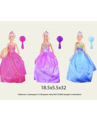 """Кукла """"Defa Lucy"""" 8291(1434323) 3 вида, в бальном платье,с аксессуаром, в кор.18,5*5,5*32см"""