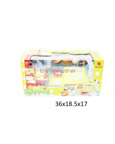 Кассовый аппарат 888A  батар, сканер, весы, карточка, корзинка, продукты, в кор. 36*19*17см