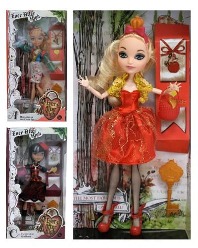 """Кукла """"Ever After High"""" 2070 (48шт/2) 12 видов, с акс., на шарнирах, в кор. 17*6*32см"""