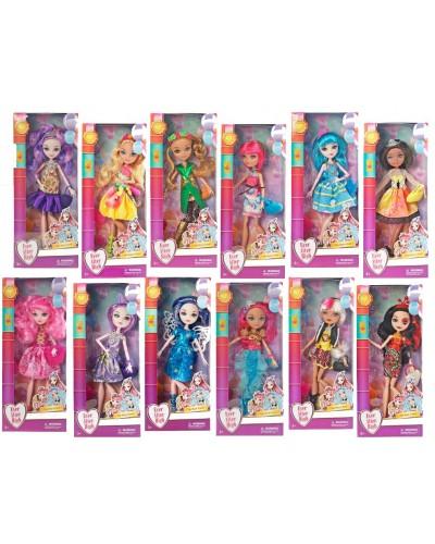 """Кукла """"Ever After High"""" 2124 (72шт/2) 12 видов, с аксесс, шарнир, в кор. 13,5*6*32см"""