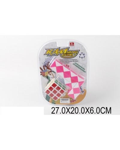 Кубик Рубика T1157 (1399586) +змейка, в слюде 27*20*6см