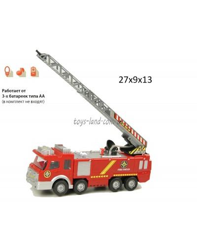 Пожарная машина батар. SY732 звук, стреляет водой, в коробке 27*9*13см