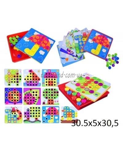 Мозаика для самых маленьких 66808 (1453488) крупные вкладыши, 10 карт,в кор.30,5*5*30,5см