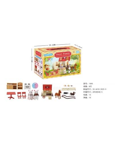 Животные флоксовые 1505  Happy Family, в короб.18*15*4,5см