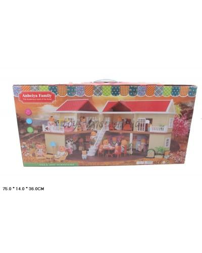 Животные флоксовые 1512  Happy Family, Домик в короб.75*14*36см