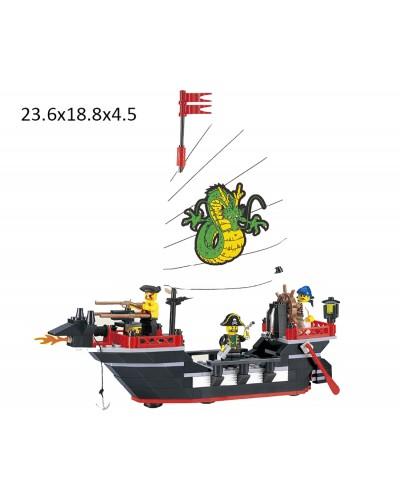 """Конструктор """"Brick"""" 301 (298784) """"Пиратский корабль""""211дет.,в разобр. кор. 24*19*5см"""