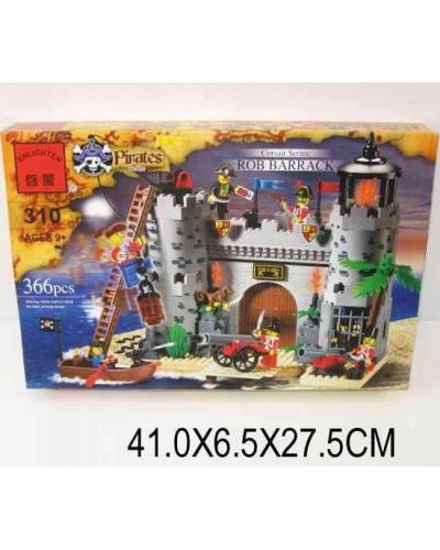 """Конструктор """"Brick"""" 310 (705563)  """"Пираты"""" 366 дет., в разобр. кор 42*28*6см"""
