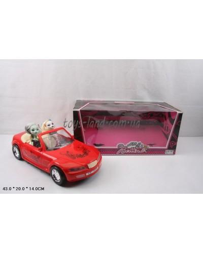 """Кукла """"Monster High"""" 66546  с машиной, 2 куклы, в кор. 43*20*14см"""