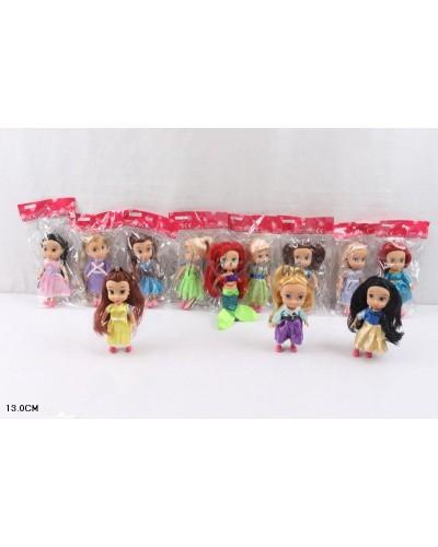 """Кукла """"Принцесса Диснея"""" L2015-81A 12видов, в пак. 13см"""