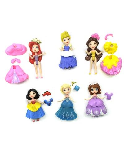 """Кукла """"Принцесса Диснея"""" 0007 6 видов, в пак. 9,5см"""