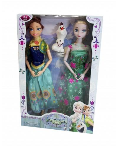 """Кукла """"Frozen"""" YF1138GB 2 сестры, снеговик, в кор. 31*20*5см"""
