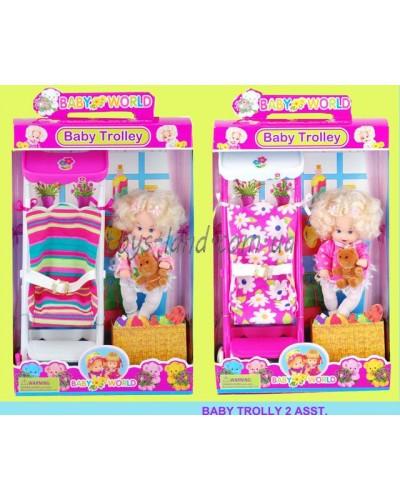"""Кукла маленькая """"Susy"""" 2933 с коляской 25 см"""