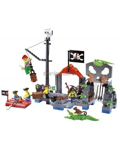 """Конструктор """"Brick"""" 309 (705562) """"Пираты"""" 196 дет., в разобр. кор 32*24*4см"""