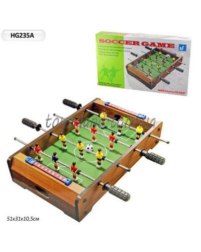Футбол деревянный HG235A  в коробке 52*30*8см