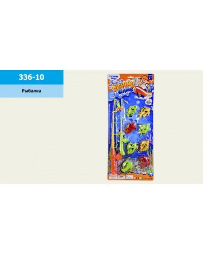 Рыбалка 336-10 2 магнит.удочки, 8 морских животных, на планшетке 57*25см