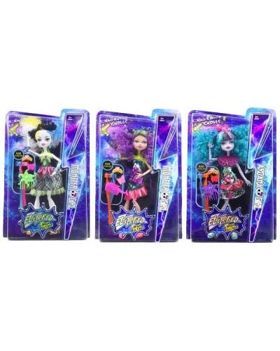 """Кукла """"Monster High""""Electrified"""" DH2169 3 вида, с расческой, шарнирные, в кор.22*5,5*34см"""