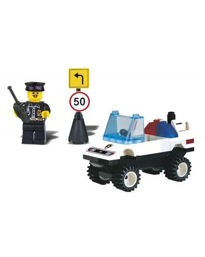 """Конструктор """"Brick"""" 124 """"Полиция"""" 39 дет., машина,человечек, от 6-ти лет, в собр.кор. 14*7*5см"""