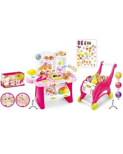 """Набор """"Магазин"""" 668-41 свет-звук, касса, весы, столик, тележка, продукты, в кор."""