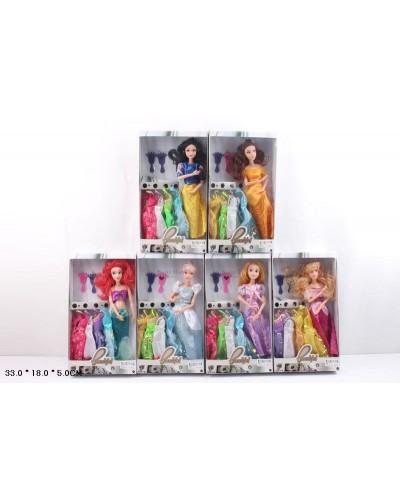 """Кукла """"Принцесса Диснея"""" 6838 6 видов, шарнир, с одеждой, в кор.18*5*33см"""