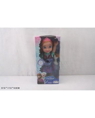 """Кукла """"Frozen"""" W598B муз, со снеговиком, в кор. 37*17*9см"""