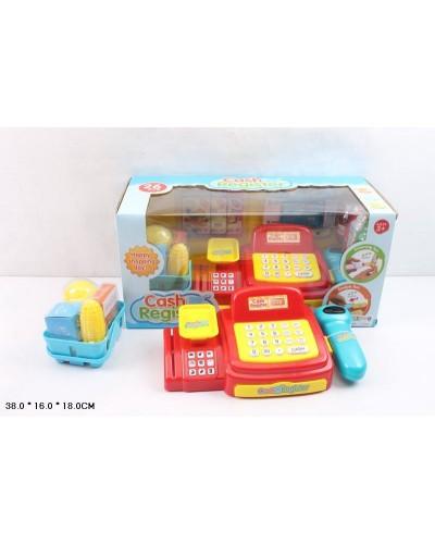Кассовый аппарат 8809 батар, сканер, весы, карточка, корзинка с продуктами, в кор.38*1